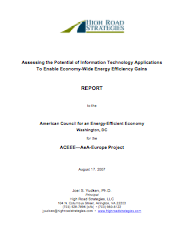 Assessing the Potential of Information Technology Applications to Enable Economy-Qide Energy-Efficiency Gains